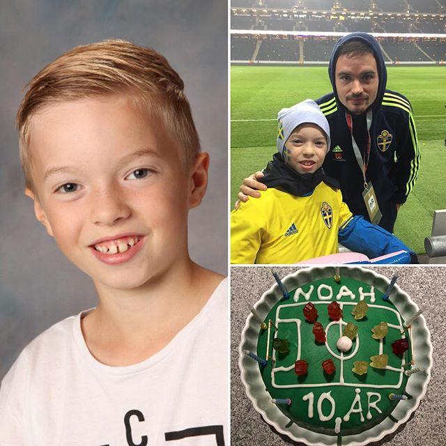 Idag fyller vår fotbollstokiga Noah 10 år. Älskar dig!! #Noahforpresident️🇸🇪🏻